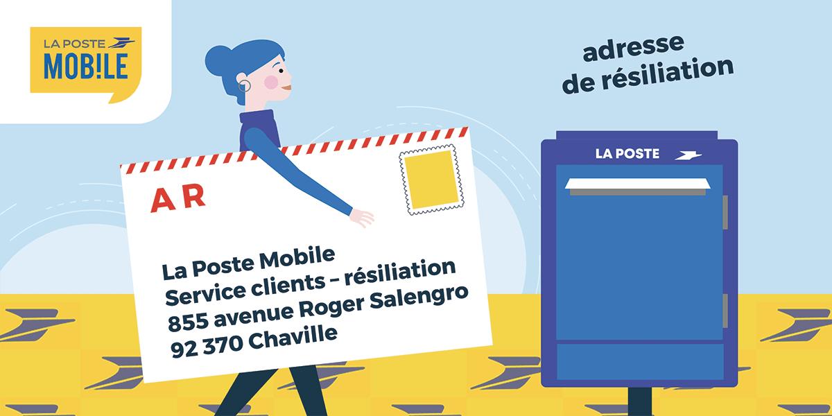 Adresse résiliation La Poste Mobile
