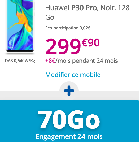 70 Go de 4G avec le forfait de Bouygues Telecom et le P30 Pro de Huawei