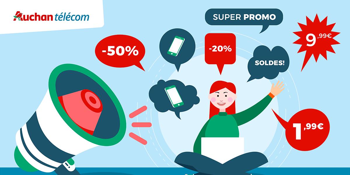 Codes promo Auchan Telecom