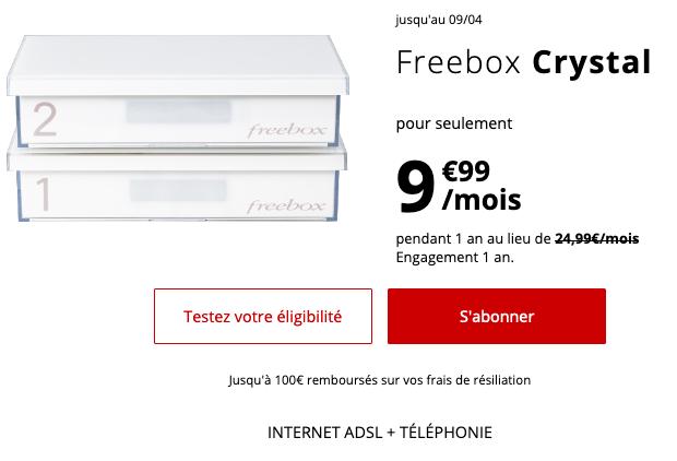 Box internet ADSL avec un forfait pas cher chez Free mobile.