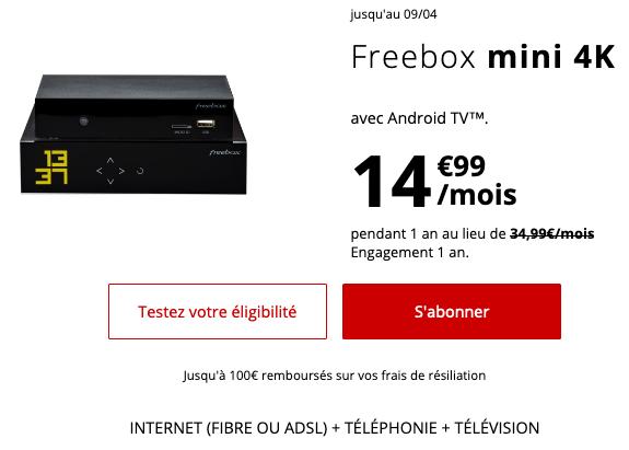 Free propose une box internet fibre avec un forfait pas cher.