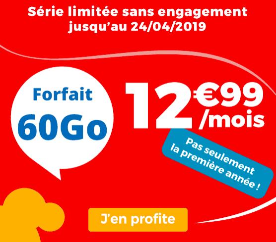 le forfait Auchan telecom en promotion