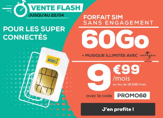 Promo La Poste Moblie pour un forfait 4G pas cher.