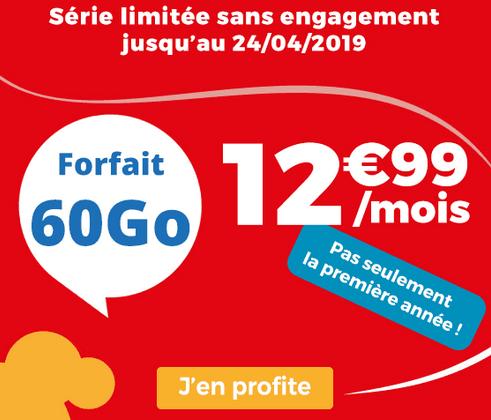 Auchan Telecom promotion forfait mobile 4G.