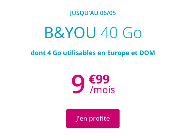 le forfait B&YOU 40 Go