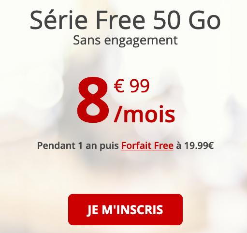 Free mobile et le forfait pas cher avec 50 Go de 4G