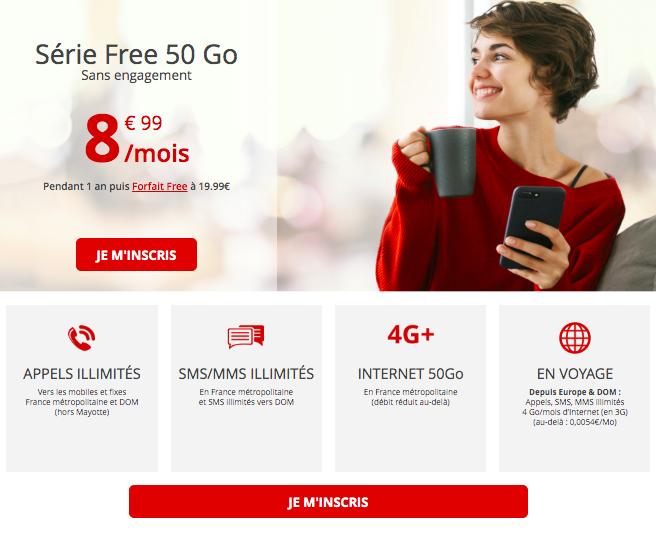 l'offre 50 Go de Free mobile