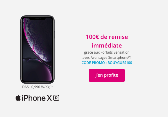 promo iphone XR bouygues