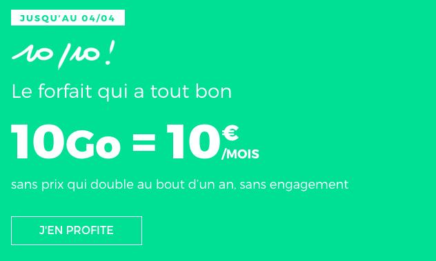 Promo forfait mobile en promo pas cher RED by SFR.