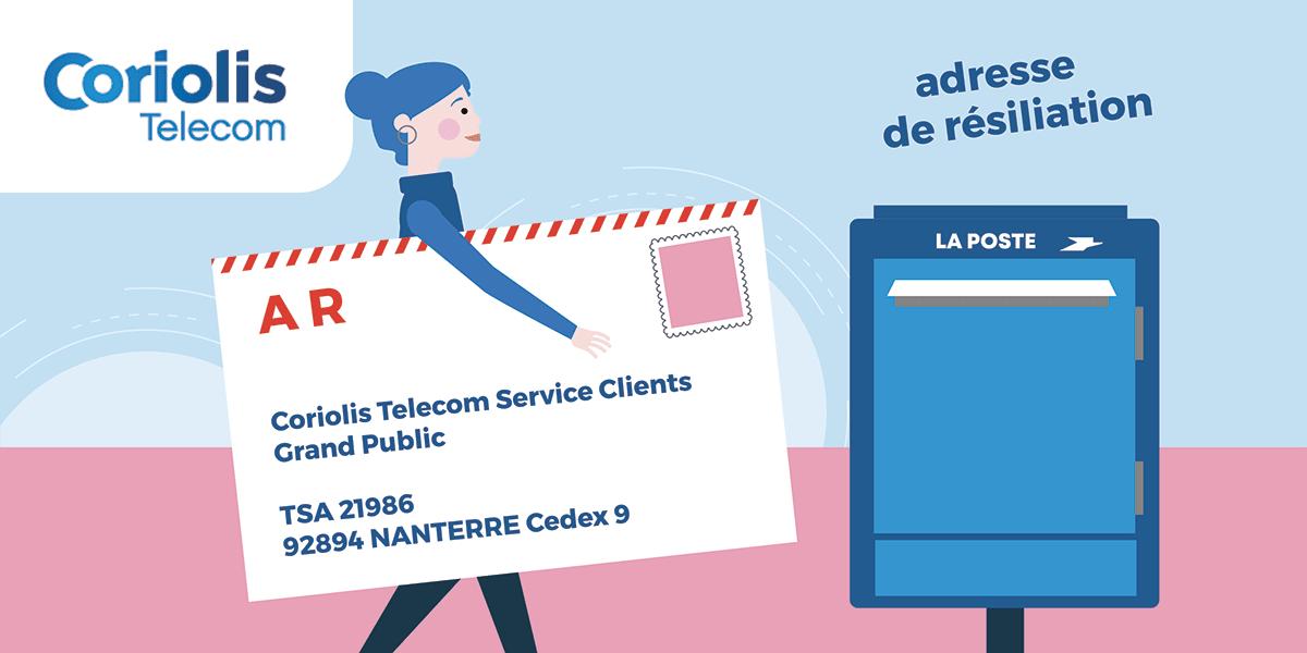 Lettre de résiliation Coriolis Telecom