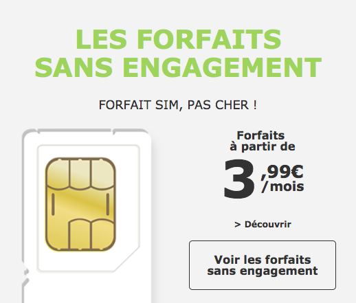 les forfaits sans engagement la poste mobile