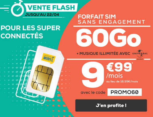 La promo de La Poste Mobile pour un forfait 4G