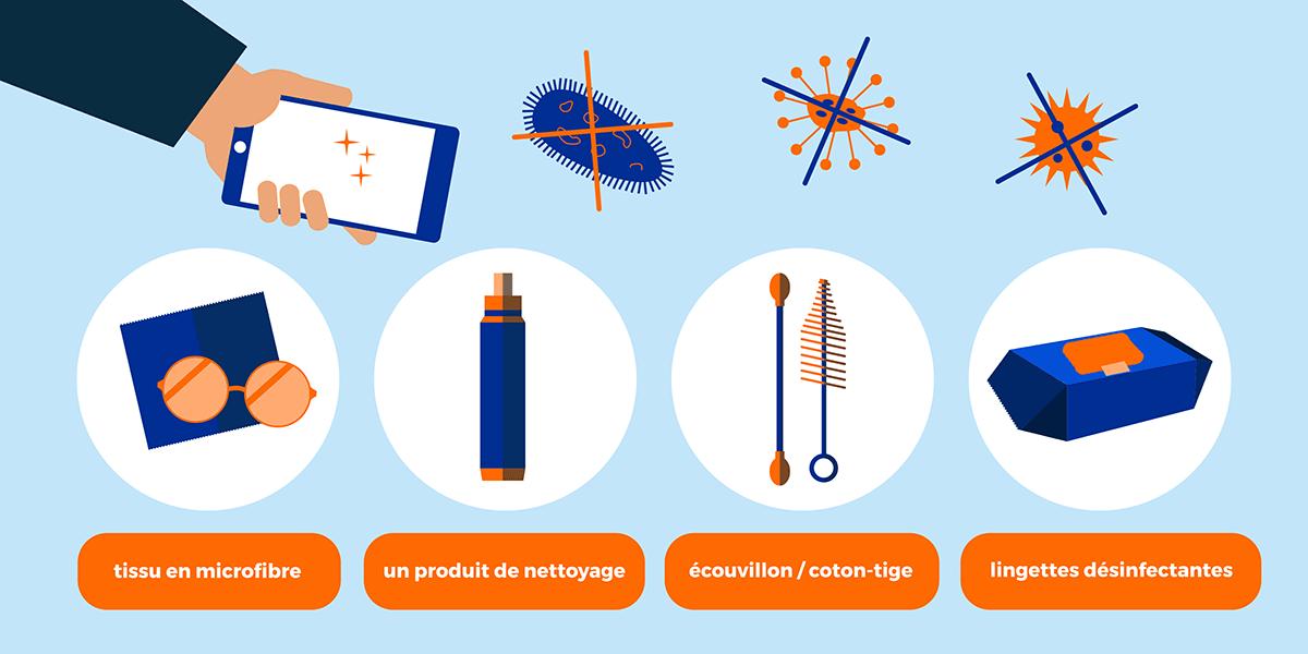 Solutions pour nettoyer son téléphone