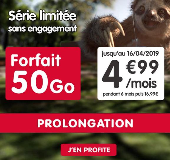 LE forfait 4G sans engagement et pas cher de NRJ Mobile