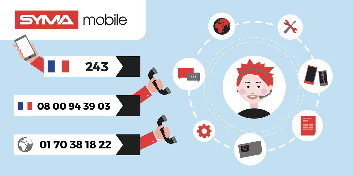 Numeros pour contacter le service client Syma mobile