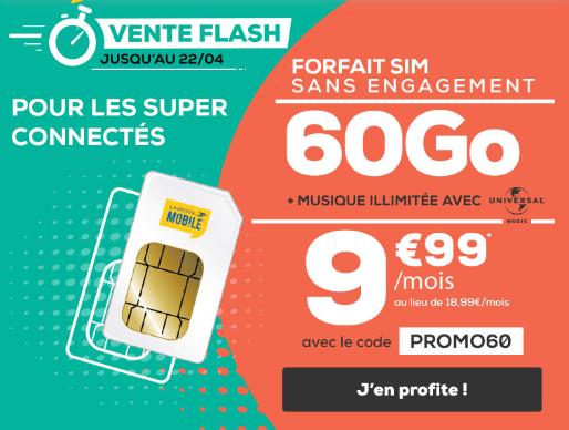 La Poste Mobile vente Flash forfait 4G.