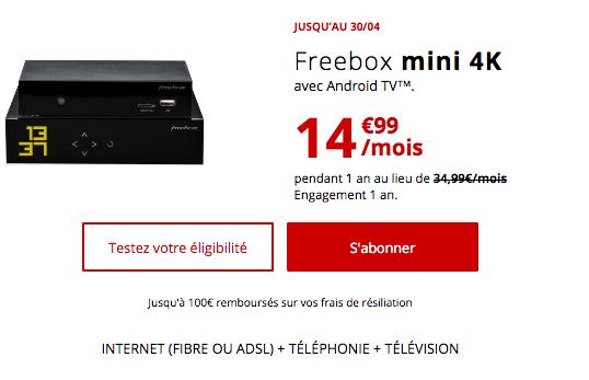 Box internet fibre optique pas chère chez Free.