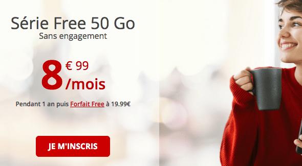 Forfait mobile en promotion chez Free Mobile.
