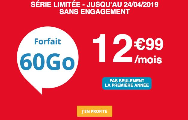 Auchan Telecom promotion forfait mobile pas cher.