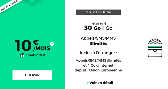 RED by SFR promotion forfait 4G