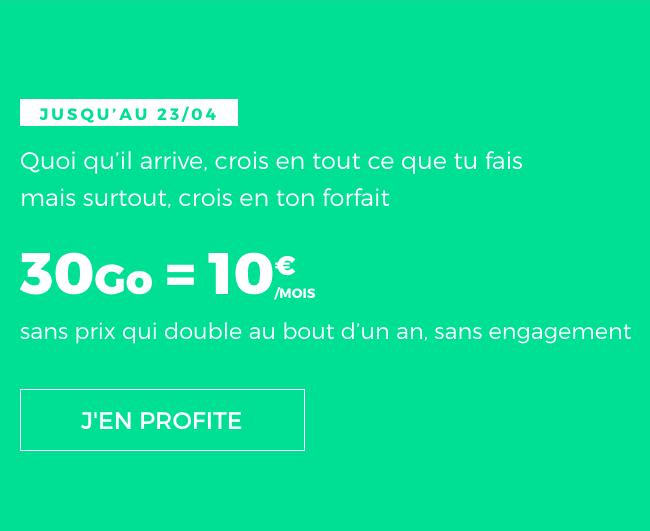 REd by SFR et le forfait sans engagement, riche en 4G.