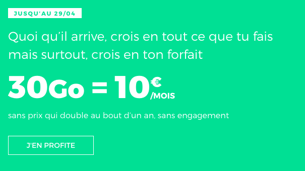 Forfait RED by SFR pas cher promo.