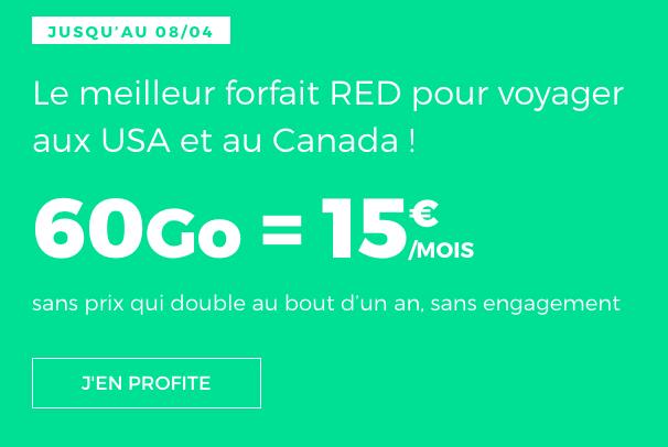 60 Go de 4G chez RED by SFR