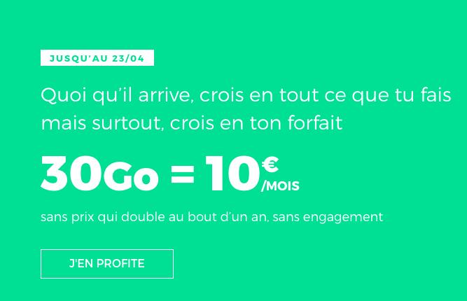 30 Go de 4G avec un forfait pas cher de RED by SFR