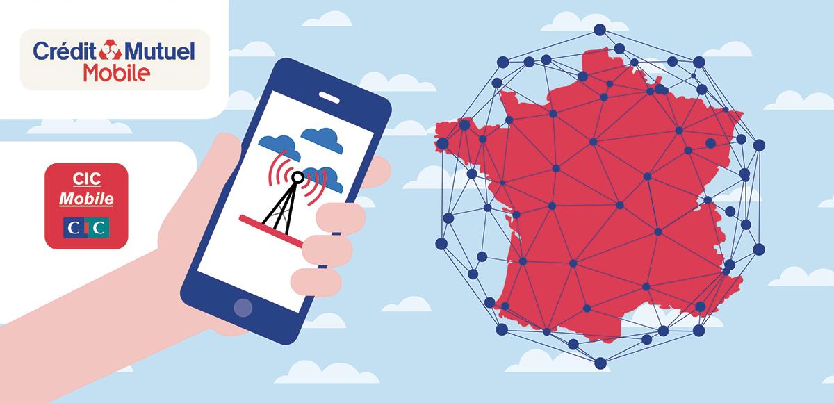 Réseau CIC et Credit Mutuel Mobile