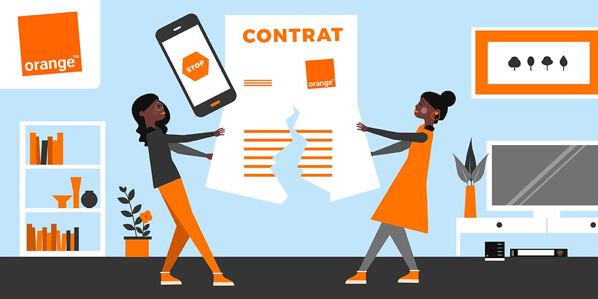 Résiliation forfait mobile Orange