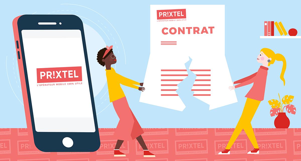 Résiliation forfait mobile Prixtel