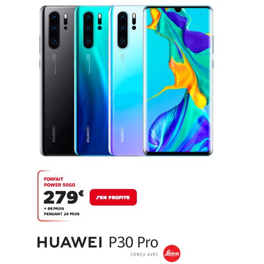 P30 Pro de Huawei en commande chez SFR avec forfait 4G
