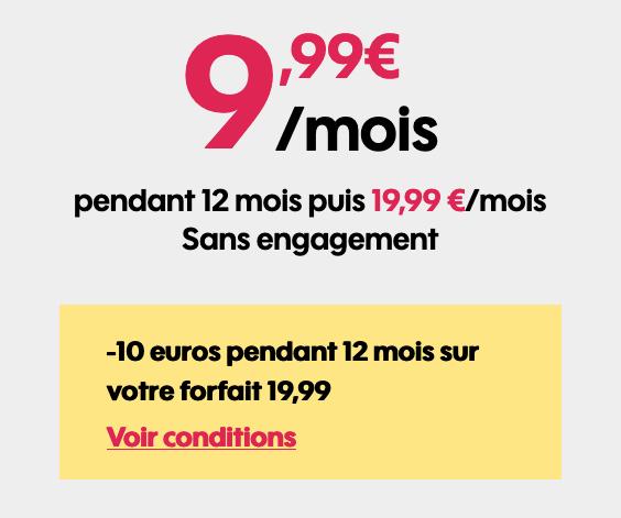 Sosh met en avant 20 go de 4G contre moins de 10€, un forfait bon plan