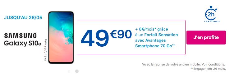 promotion Bouygues sur le Galaxy S10e