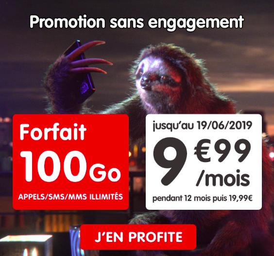 le forfait en promotion de nrj mobile