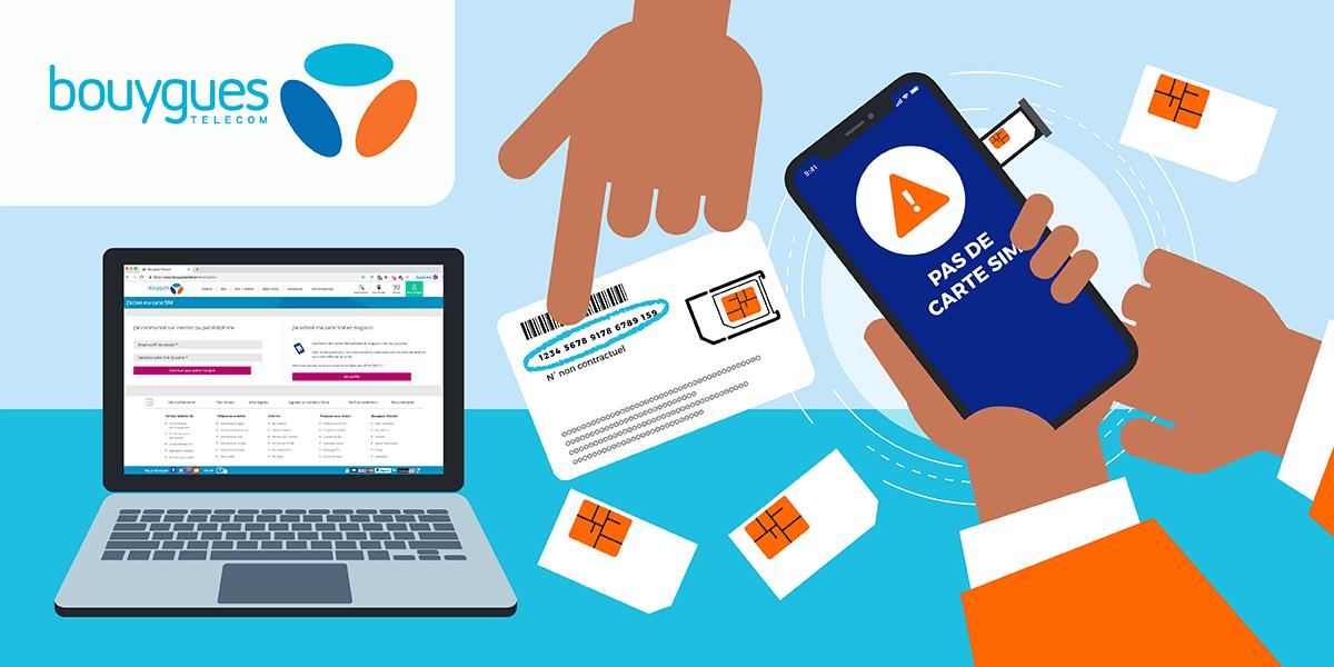 bouygues activer carte sim Activer sa carte SIM Bouygues Tele: les différentes étapes