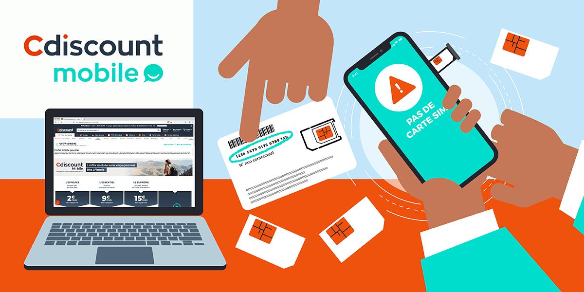 Activer carte SIM Cdiscount mobile