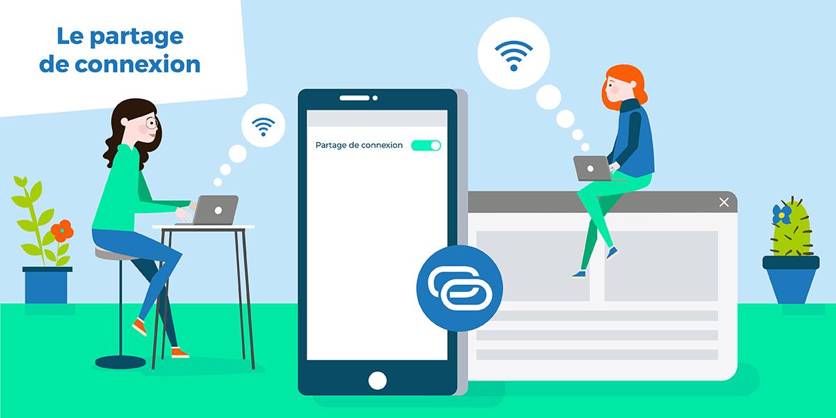 Activer partage de connexion