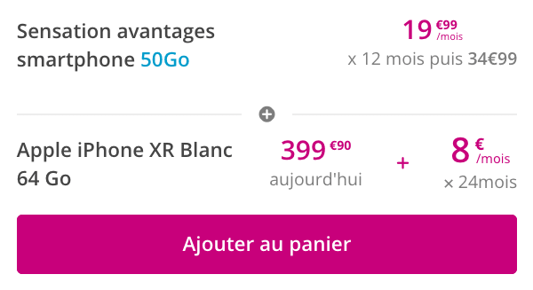 Promo Bouygues Telecom iPhone XR.
