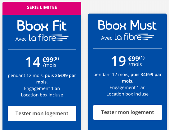 les box internet de Bouygues Telecom