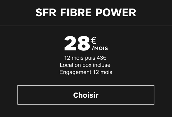 la box Power de SFR