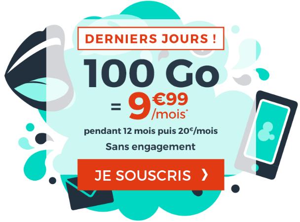 100 Go de 4G avec le bon plan forfait mobile de Cdiscount mobile