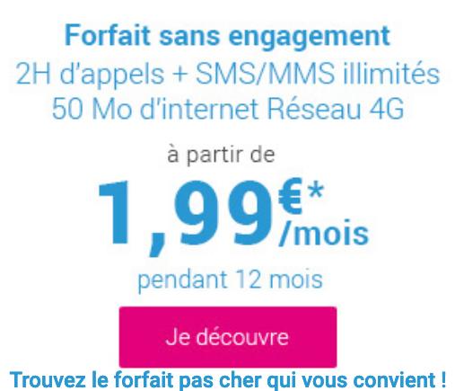 Coriolis telecom casse les prix de son forfait mobile : 1,99€seulement.