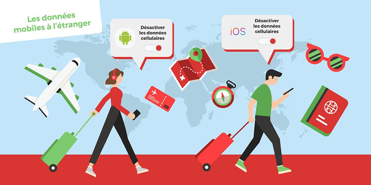 Désactiver 4G à l'étranger