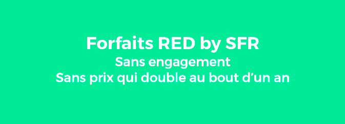 forfait 4G de RED by SFR