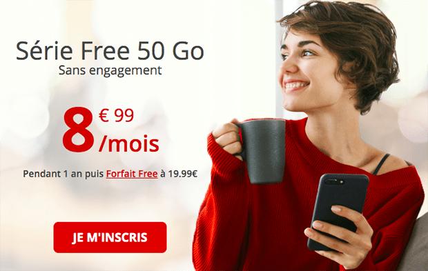 Le forfait en promotion 50 Go de Free