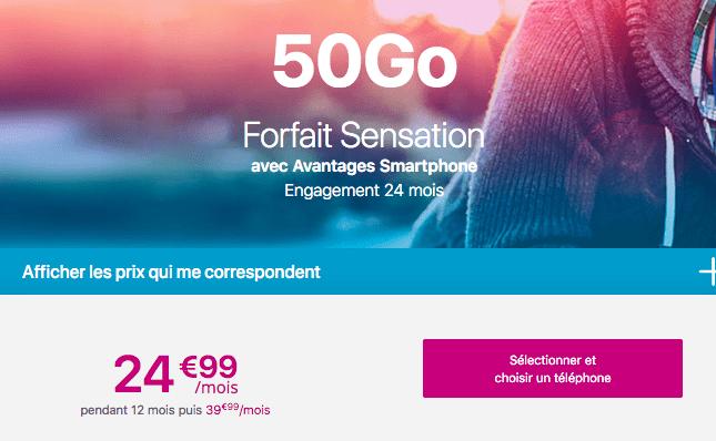 Forfait mobile avec smartphone en promo chez Bouygues Telecom
