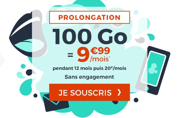 Cdiscount mobile promo forfait 100 Go de 4G.