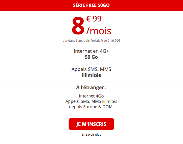 forfait 4G de free