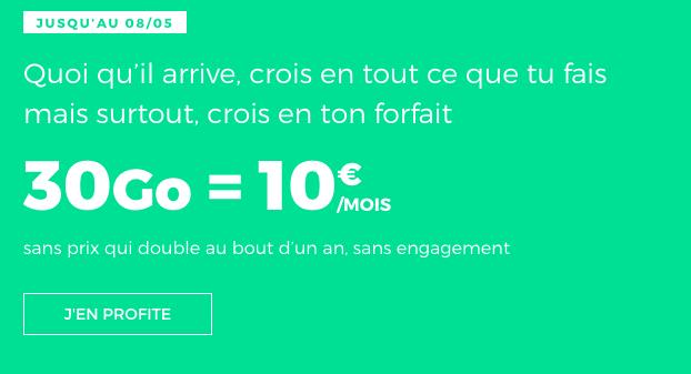 Chez RED by SFR, des promos sont valables sur les forfaits mobiles sans engagement.